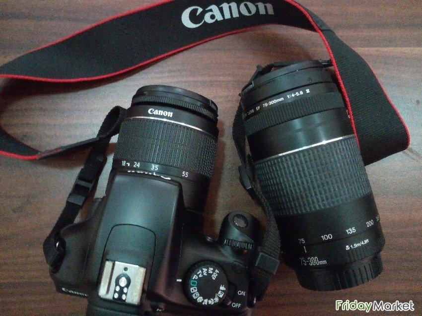 Canon Camera Eos 1100d W Two Lens In Qatar Fridaymarket