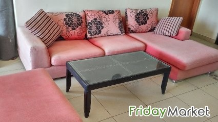 Used Outdoor L Shape Sofa Sets Coffee Table In Qatar FridayMarket - Coffee table for l shaped sofa