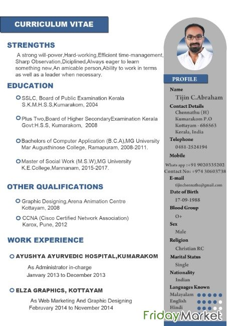 Am MSW Graduate And I Have 2 Year Experience In Administration Field Al Rayyan Qatar