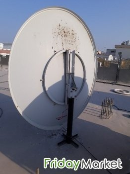 Airtel HD+ DTH Receiver, Remote And Big Dish Antenna With 10m Cable Al Wakrah Qatar