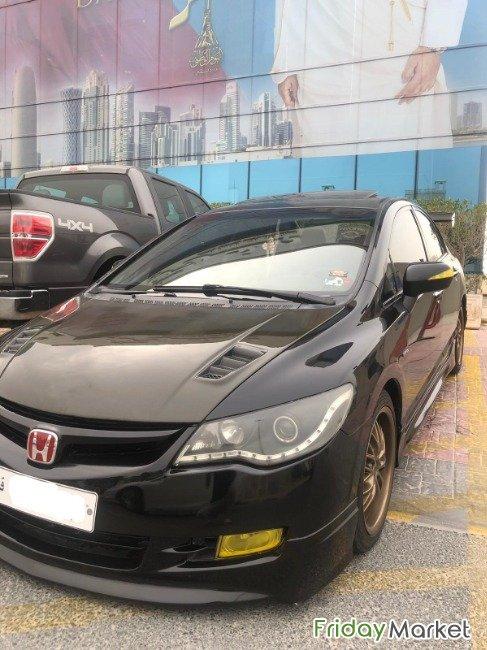 Honda Civic 2008 Black Amp Carbon Modified Full Option In