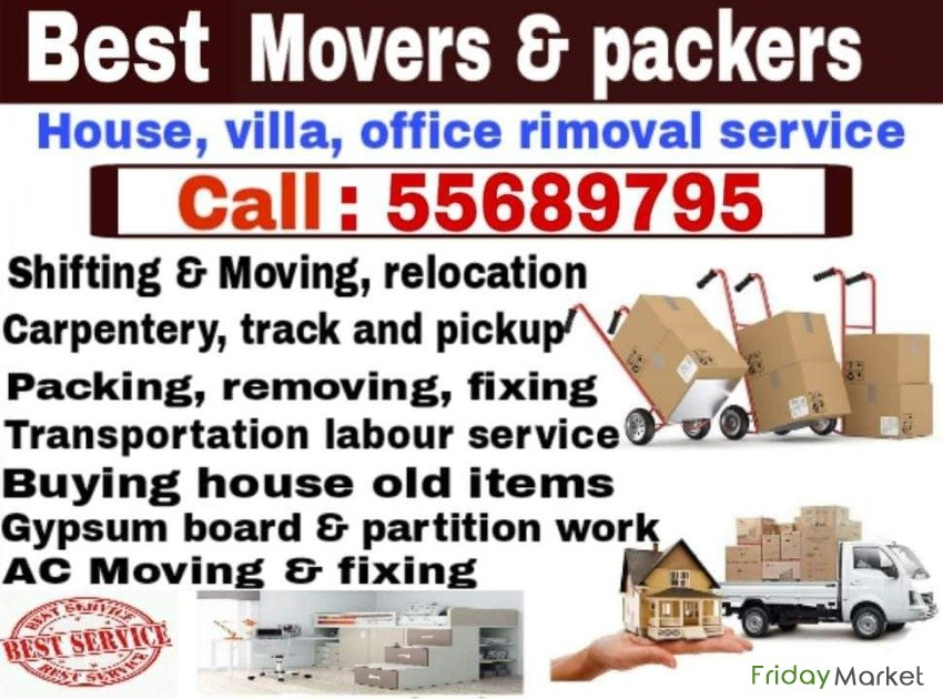 Shifting And Moving Call:55689795 Al Wakrah Qatar